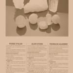 Natural alum stones