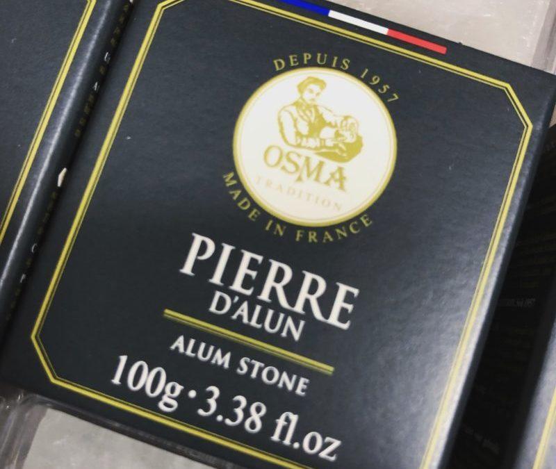 Pierre d'alun fabriquée en France